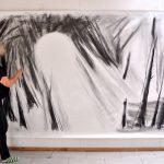 Nurith M Lumer-Klabbers 300x200 cm Blyant på lærred